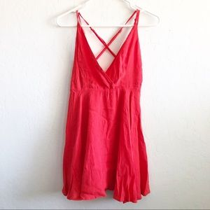 Forever 21 Little Red A Line Strappy Dress